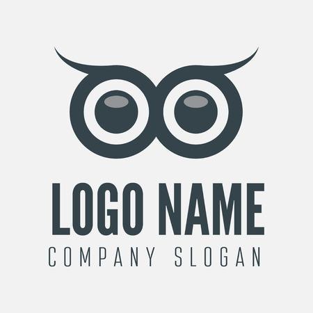 Ilustración de element with owl for business, corporation or web - Imagen libre de derechos