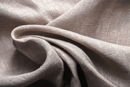 Photo pour Background made of linen folded napkins - image libre de droit