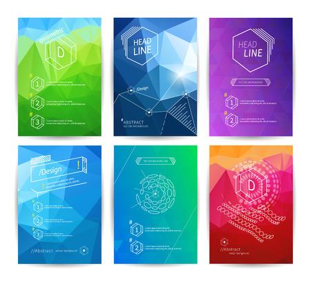 Ilustración de Set of poster design templates - Imagen libre de derechos