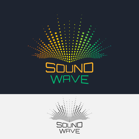 Illustration pour Sound Wave, vector logo design template. Abstract modern equalizer. - image libre de droit
