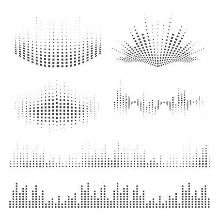 Illustration pour Vector sound waves set. Music elements for your design. - image libre de droit