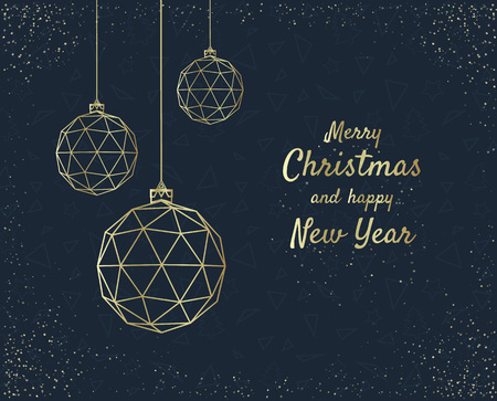 Illustration pour Merry Christmas greeting card design with stylized christmas ball. Vector illustration - image libre de droit