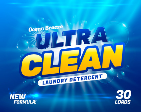 Illustration for Package design template for laundry detergent. illustration - Royalty Free Image