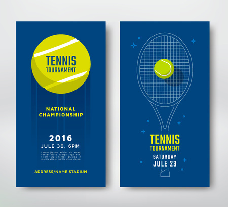 Illustration for Tennis championship or tournament poster design. Vector illustration - Royalty Free Image