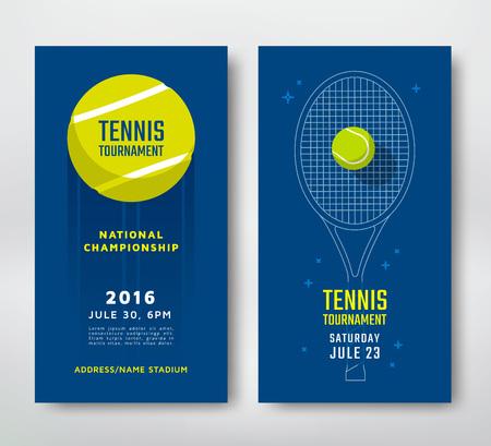 Ilustración de Tennis championship or tournament poster design. Vector illustration - Imagen libre de derechos