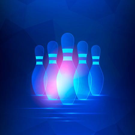 Ilustración de Bowling club banner - Imagen libre de derechos