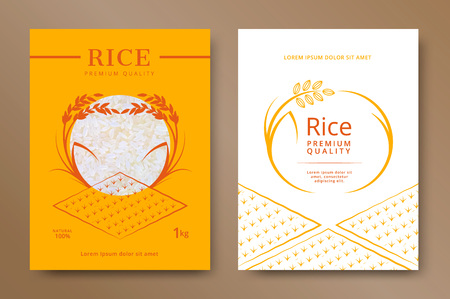 Illustration for Rice package product design template. Vector illustration - Royalty Free Image