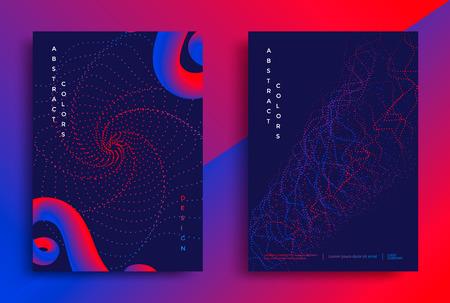 Ilustración de Minimal covers or posters design template. Abstract shapes with vibrant gradients. Vector illustration - Imagen libre de derechos