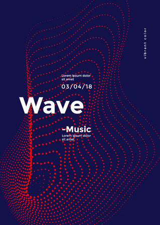 Ilustración de Futuristic dynamic wave dots pattern. Sound vector background. - Imagen libre de derechos