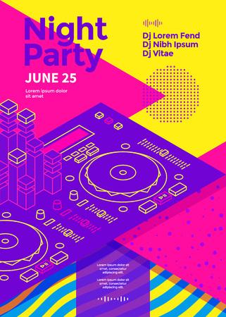 Ilustración de Dance night party - Imagen libre de derechos