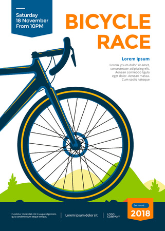Illustrazione per Bicycle race poster - Immagini Royalty Free