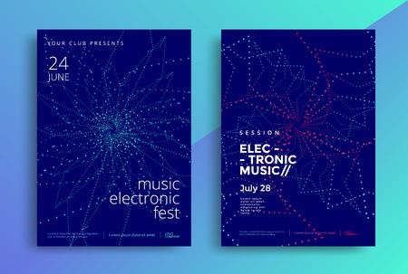Ilustración de Electronic Music poster design or Sound flyer - Imagen libre de derechos