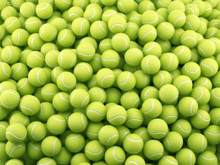 3d render of tennis ball background. Sport concept
