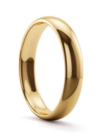 Foto de 3d render of golden ring isolated - Imagen libre de derechos