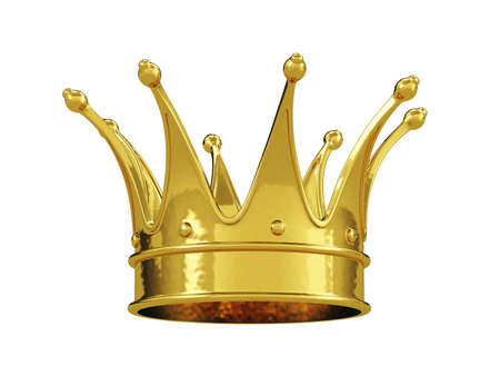 Photo pour Royal gold crown isolated on white background - image libre de droit