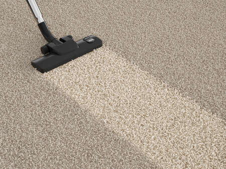Photo pour Vacuum cleaner  on the dirty carpet. House cleaning concept - image libre de droit
