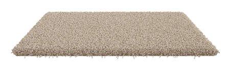 Foto de 3d render of rectangle carpet isolated on white background - Imagen libre de derechos