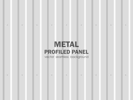Illustration pour Illustration: Seamless background of metal profiled panel. - image libre de droit