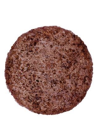 Foto de Fried fresh large beef burger isolated on white background - Imagen libre de derechos