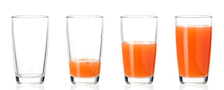 Photo pour Set of glasses juice - image libre de droit