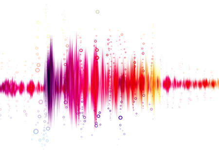 Photo for sound wave on a white background - Royalty Free Image