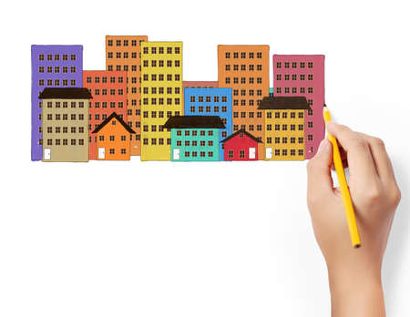 Photo for drawing Buildings and cityscape  - Royalty Free Image