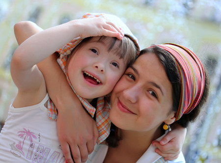 Foto de Happy family moments - Mother and child have a fun - Imagen libre de derechos