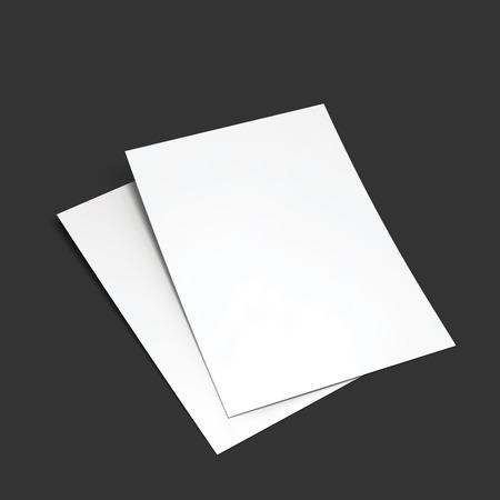 Illustration pour Magazine, booklet, postcard, flyer, business card or brochure mockup template. - image libre de droit