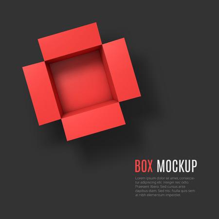 Illustration pour Open box mockup template.  - image libre de droit
