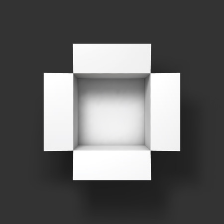 Illustration pour Open box mockup template. Top view. Vector Illustration EPS10. - image libre de droit