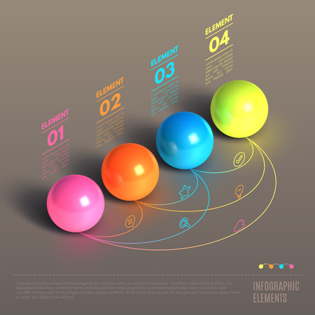 Illustration pour Business Infographics ball concept. 3d isometric vector illustration. Can be used for web design and workflow layout - image libre de droit