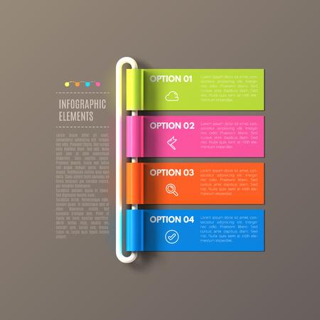 Illustration pour Banner steps business infographic template. - image libre de droit