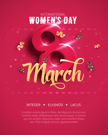 Illustration pour 8 March. International Womens Day. Happy Mothers Day. - image libre de droit