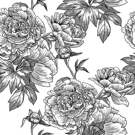 Illustration pour Monochrome seamless pattern - image libre de droit