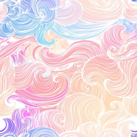 Ilustración de Seamless abstract pattern, waves background - Imagen libre de derechos
