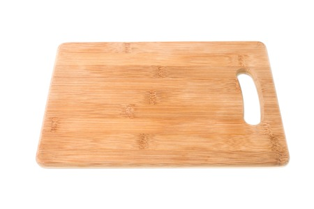Photo for Wood cutting Board isolated on white background. - Royalty Free Image