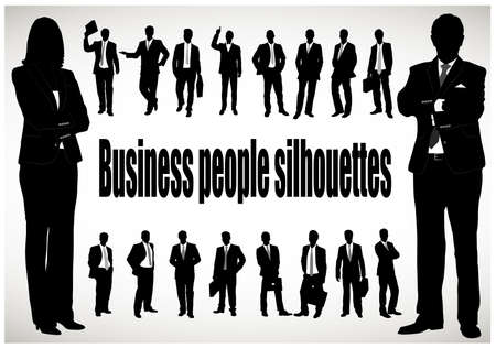 Illustration for silhouette of the businessman - Royalty Free Image