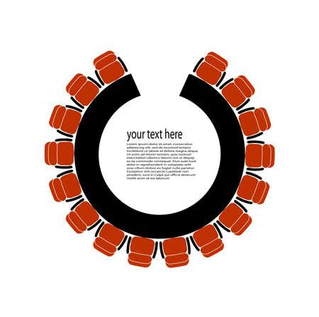 Illustration pour Round table - image libre de droit