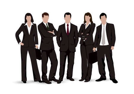 Illustration for drawings businessmen on a white background - Royalty Free Image