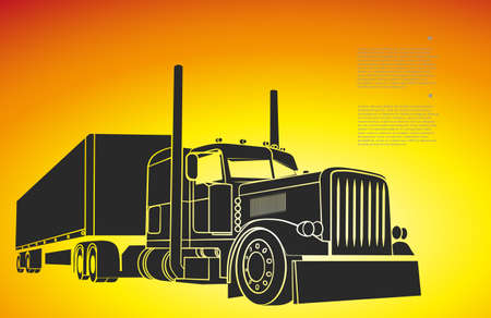 Illustrazione per drawing of the truck transporting a load - Immagini Royalty Free