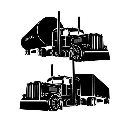 Illustration pour drawing of the truck transporting a load - image libre de droit