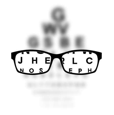 Ilustración de Optometry medical background - Imagen libre de derechos