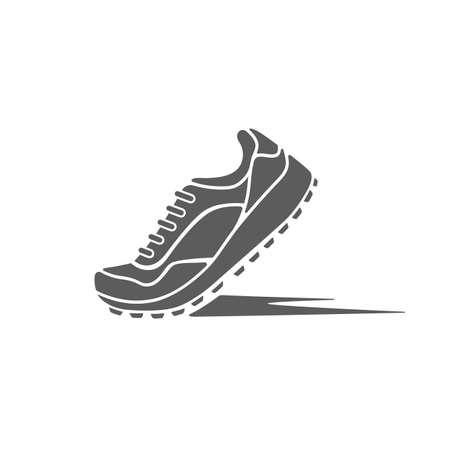 Ilustración de icon sports shoes of the dynamics - Imagen libre de derechos