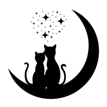 Ilustración de cats in love - Imagen libre de derechos