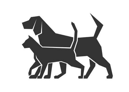 Ilustración de icon dog and cat - Imagen libre de derechos