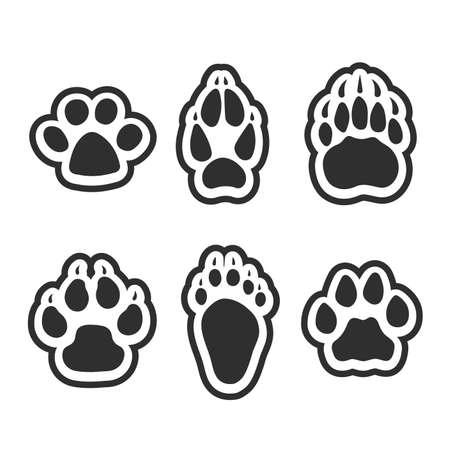 Ilustración de Print of paws of animals. - Imagen libre de derechos