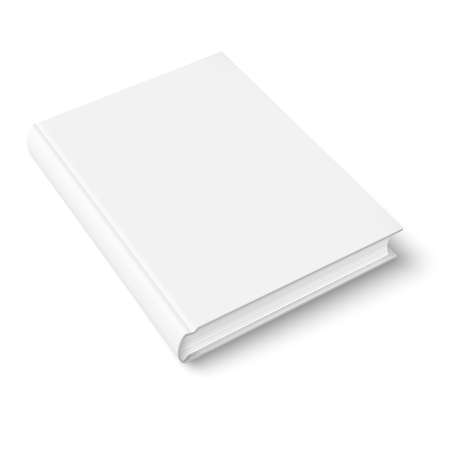 Illustration for Blank book cover template on white background with soft shadows. Perspective view. Vector illustration. - Royalty Free Image