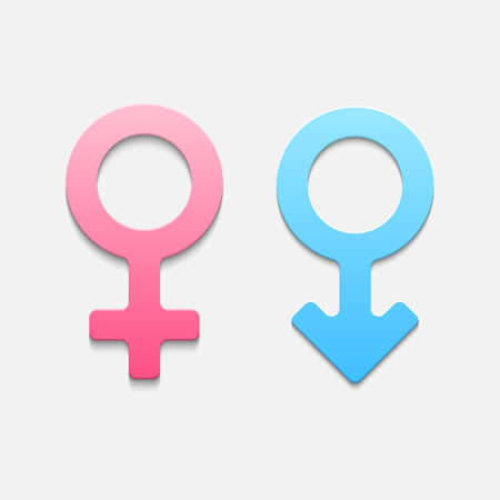 Illustration pour Mars and venus symbols. Vector illustration - image libre de droit