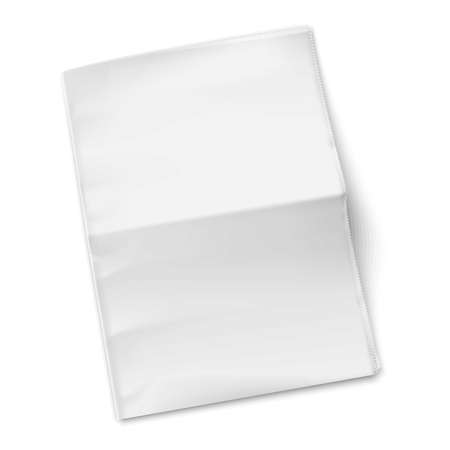 Illustration for Blank newspaper template on white background. Vector illustration. EPS10. - Royalty Free Image
