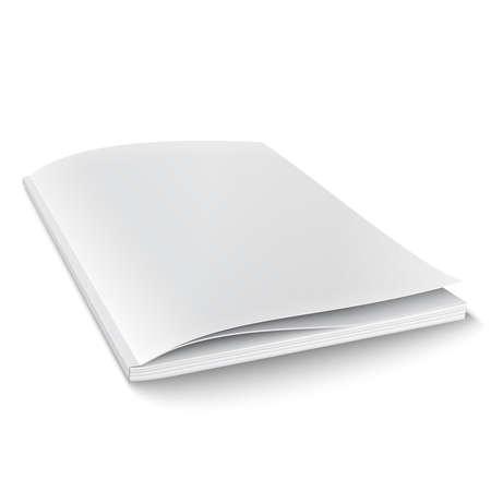 Ilustración de Blank magazine template on white background with soft shadows. Vector illustration.  - Imagen libre de derechos